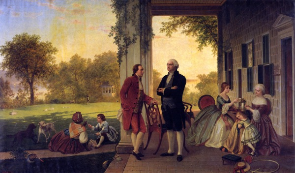 Washington And Lafayette At Mount Vernon, 1784 - The Home Of Washington After The War