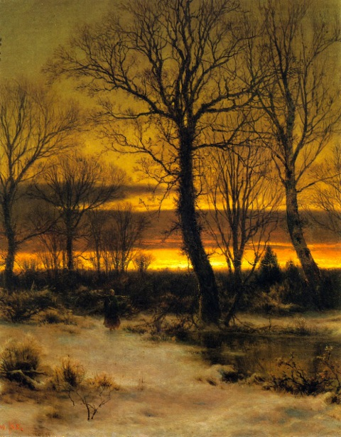 Winter - Sunset In The Forest