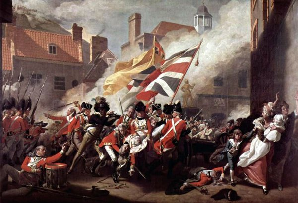 Battle Of Jersey - The Death Of Major Peirson, 6 January 1781