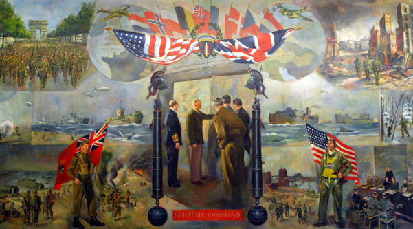 mural at The Eisenhower Museum, Abilene, Kansas