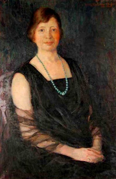 Portrait Of A Woman In A Black Dress