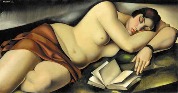 Reclining Nude With Book