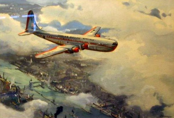 Boeing Stratocruiser Over London