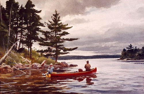 Casting In Grand Lake, Maine