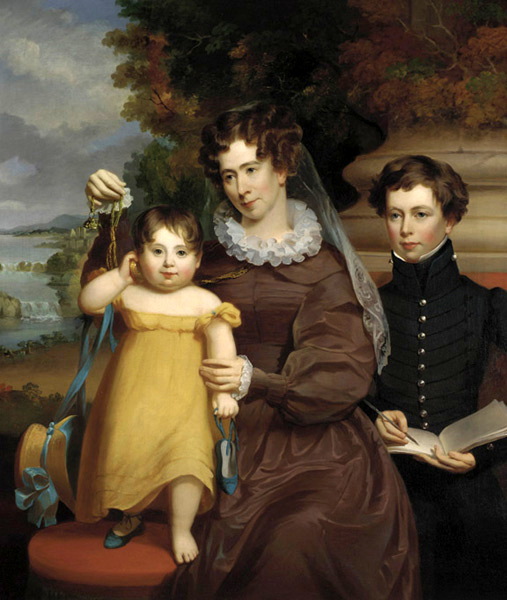 Mrs. Victor René Value (née Ann Lane Bean) With Her Daughter Victoria Matilda And Her Stepson Jesse René