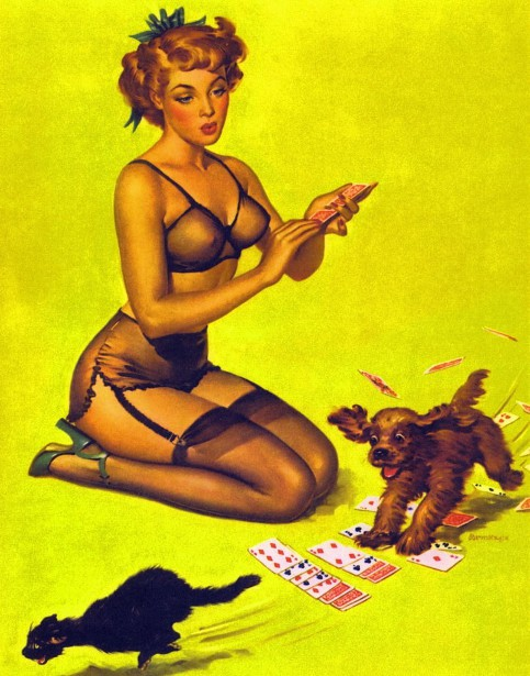 Playing For Fun - Solitaire Pin-Up