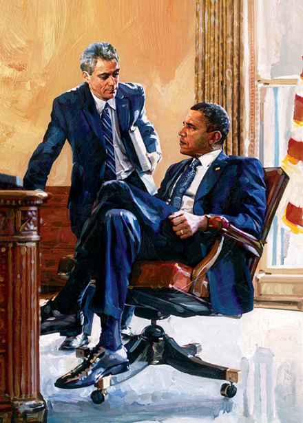 Rahm Emanuel And Barack Obama