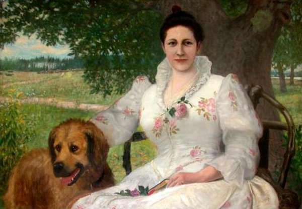 Sarah Jane Farmer And Her Dog Barry