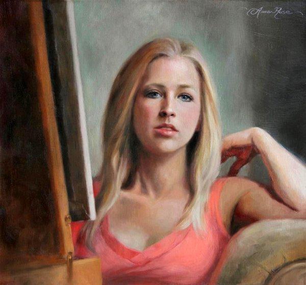Self Portrait By The Window