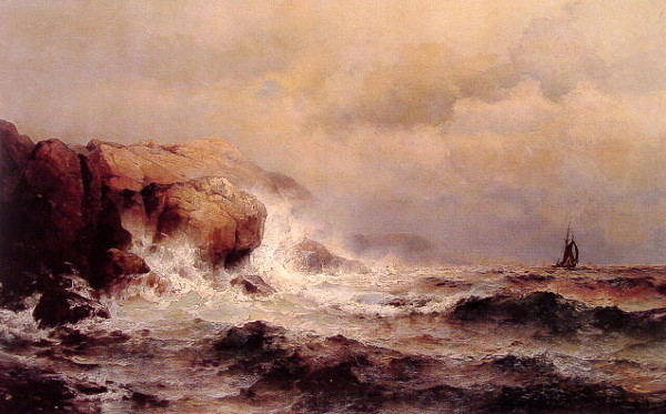 Ship Off A Stormy Coast