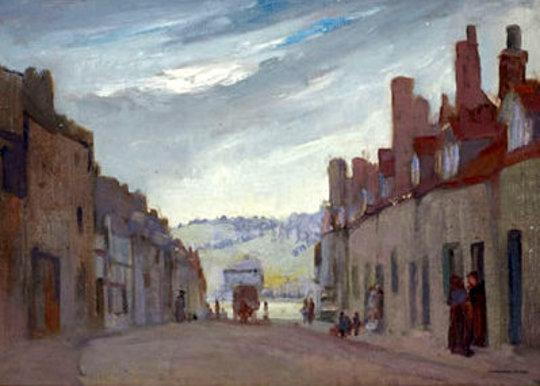 Street Scene At Dusk