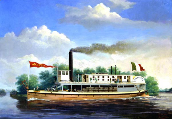 The Steamboat Antonia On The Rio Grande