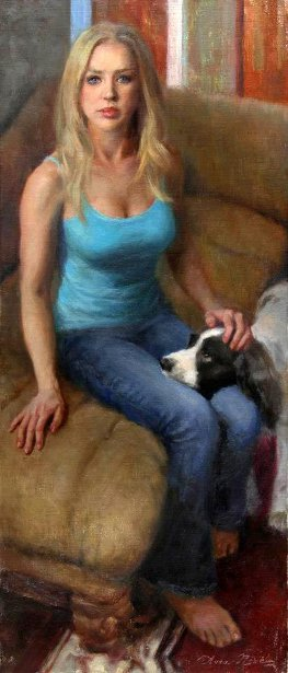 To Paint Or To Play (Self Portrait With Bella)