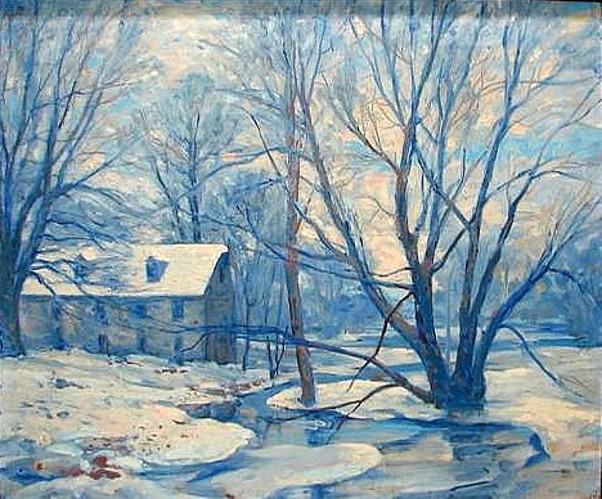 Winter Landscape With Mill