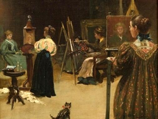 Women In Art Class