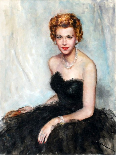 Young Woman In Evening Gown