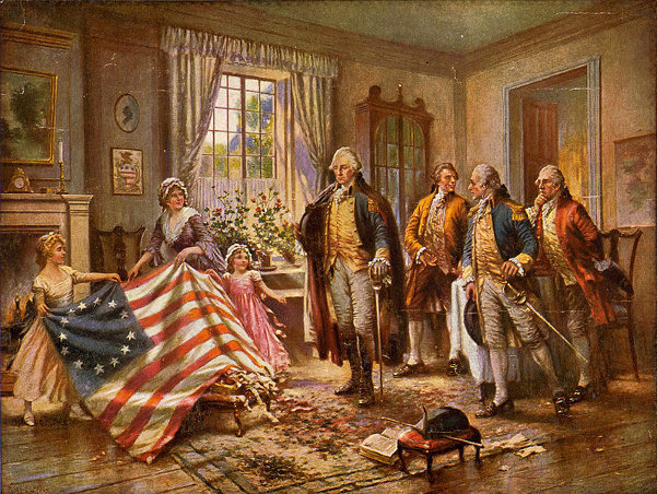 Betsy Ross Presenting The First American Flag To General Washington