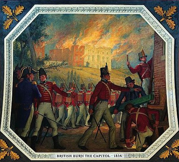 British Burn The Capitol, 1814