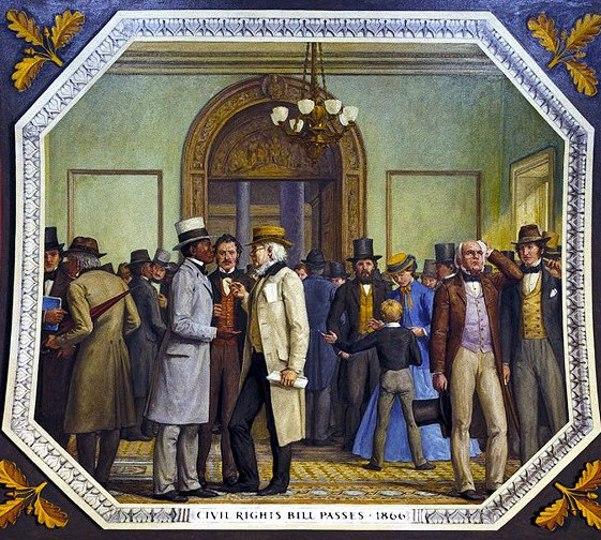 Civil Rights Bill Passes, 1866