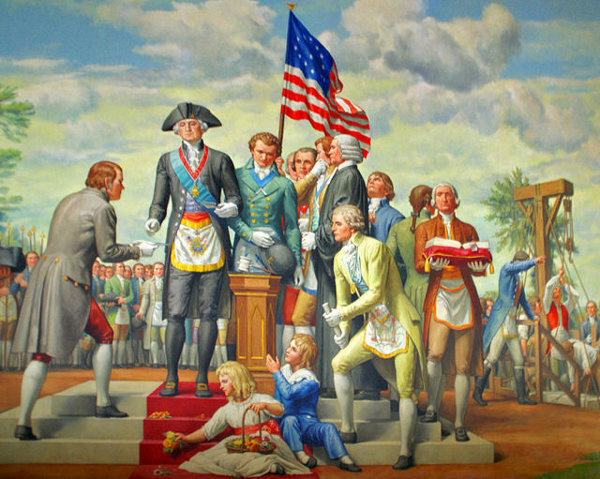 George Washington Laying The Cornerstone Of The United States Capitol