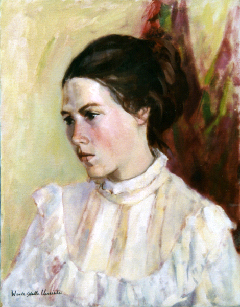 Girl In White Blouse