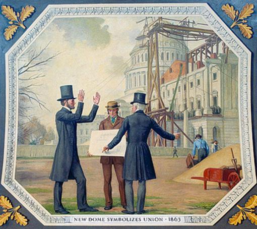 New Dome Symbolizes Union, 1863