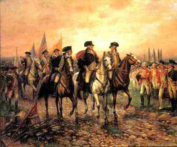 Surrender Of Cornwallis To Washington At Yorktown (October 19, 1781)