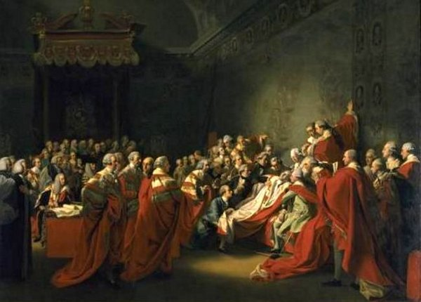 The Collapse Of The Earl Of Chatham In The House Of Lords, 7 July 1778