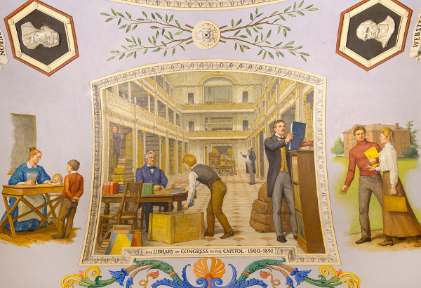 The Library Of Congress In The Capitol, 1800-1897