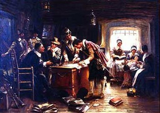 The Signing Of The Compact In The Cabin Of The Mayflower (November 11, 1620)