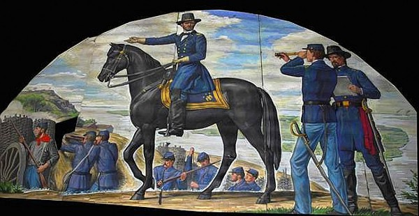 Ulysses S. Grant With Union Soldiers