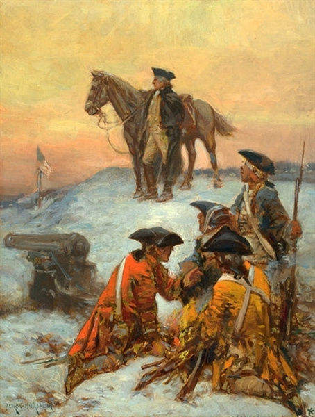 Washington At Valley Forge (Winter 1777-1778)