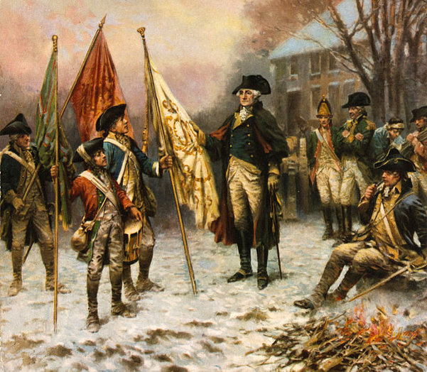 Washington Inspecting The Captured Colors After The Battle Of Trenton (December 26, 1776)
