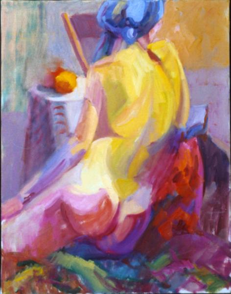 Woman In Blue Scarf