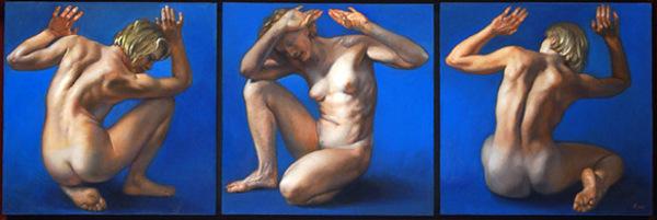 Blue Nude Triptych