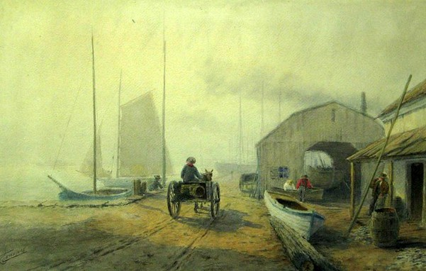 Dockside Scene With Figures