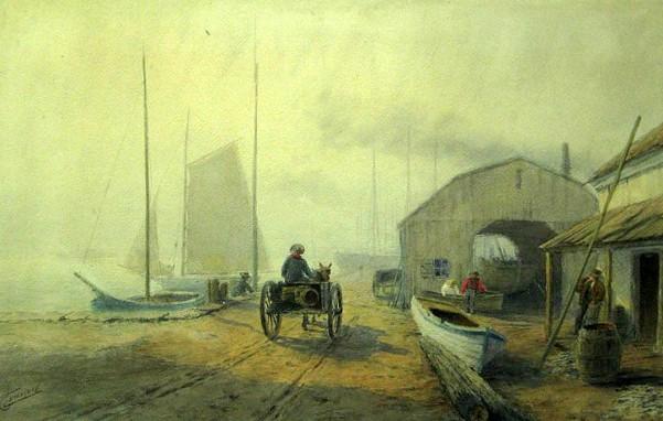 Dockside Scene With Figures
