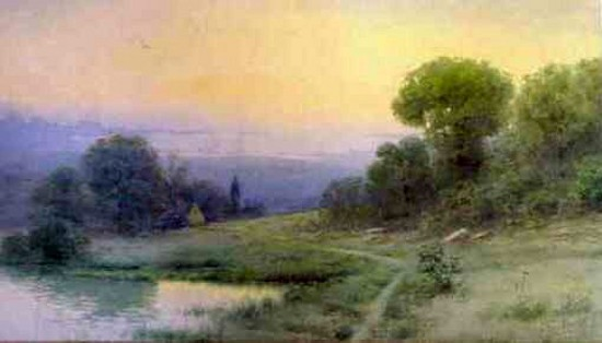 Landscape With Lake And Cottage