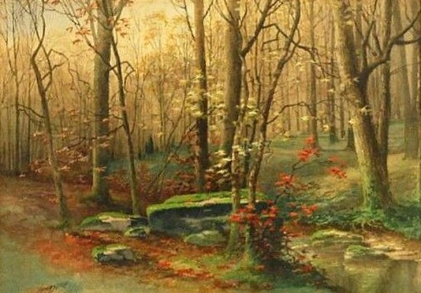 Late Fall Landscape With Stream