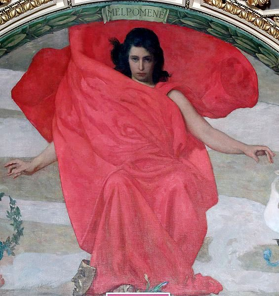 Melpomene (Mural at the Library of Congress Thomas Jefferson Building, Washington, D. C.)