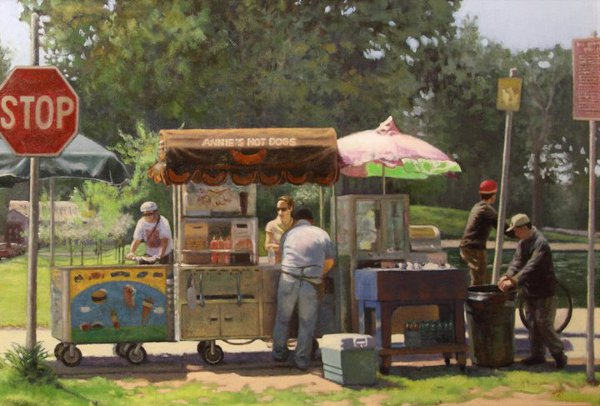 Summer Hot Dog Stand In GG Park