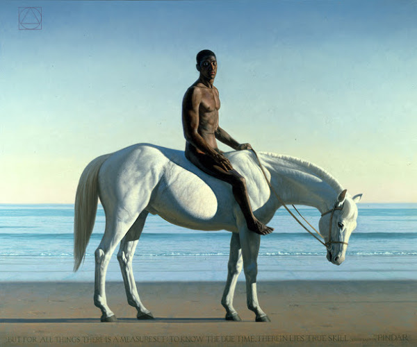 Arete (Black Figure On A White Horse)