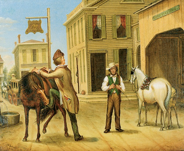 Horse Trade Scene, Cornish Maine