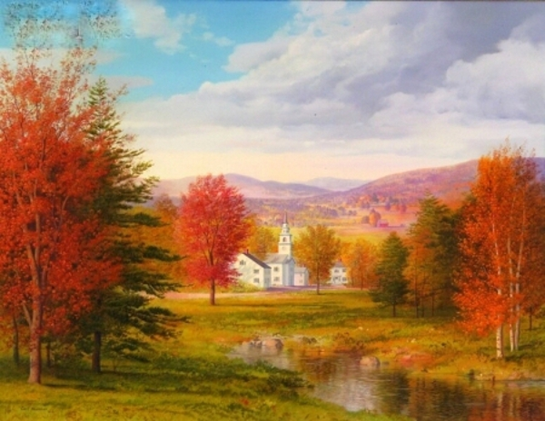 New England Church, Autumn