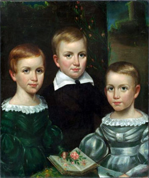 The Dickinson Children (Emily Dickinson on the left)
