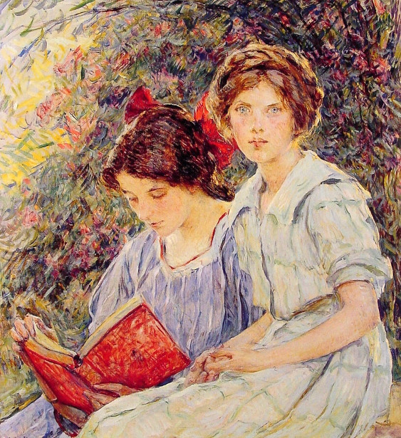 The Sisters - Two Girls Reading