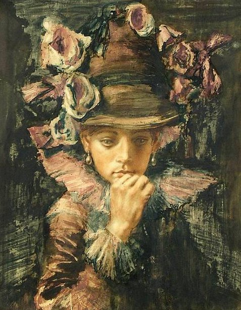 Woman In Flowered Hat