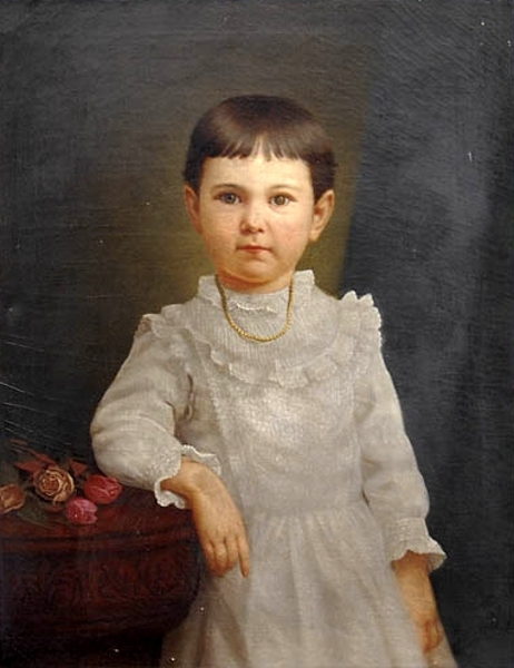 Young Girl In White