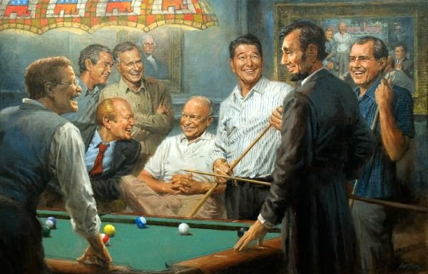 Callin' The Blue - Republican Presidents Playing Pool