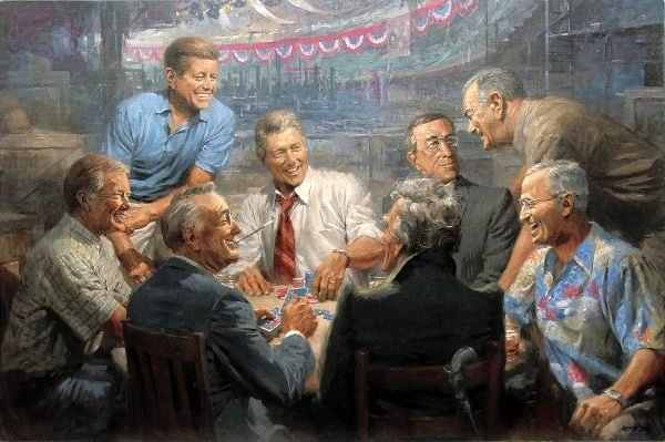 True Blues - Democratic Presidents Playing Poker